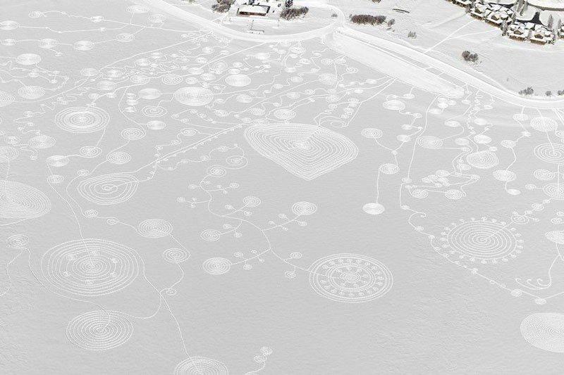 Dibujo en la Nieve 4