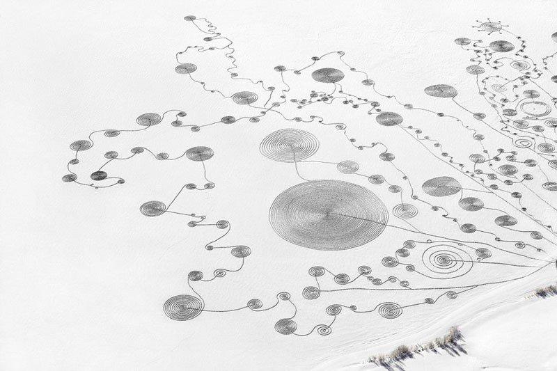 Dibujos en la nieve