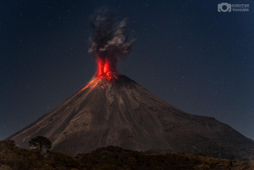 Erupcion del Colima