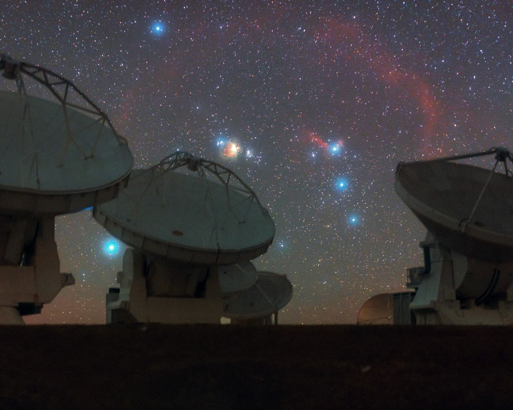 Orion the Hunter Watches Over ALMA