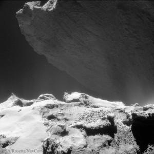 Acantilado en el cometa