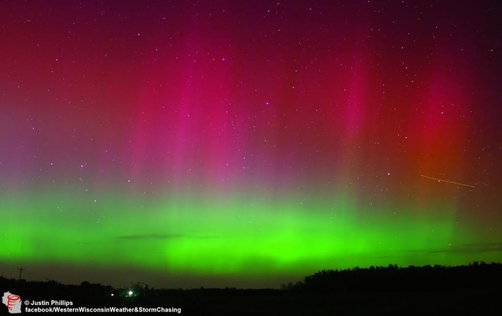 Auroras en  Wisconsin