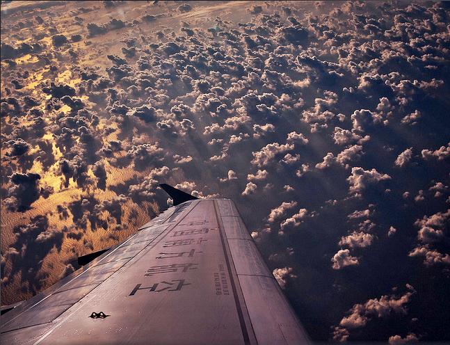 Nubes y el mar