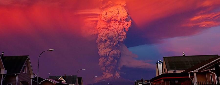 Volcan Calbuco en erucpion