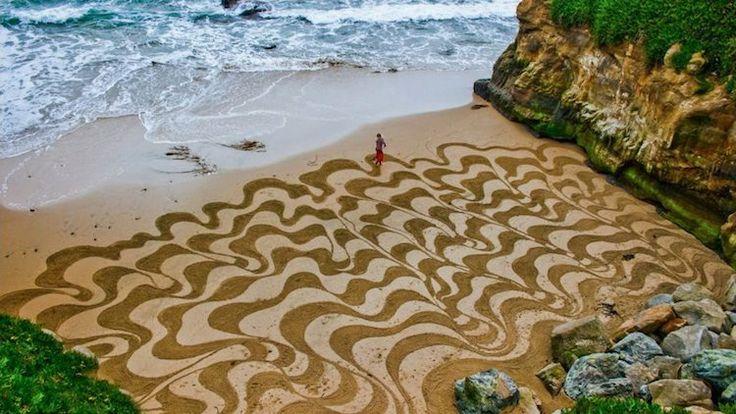 Dibujos en playas de San Francisco 1
