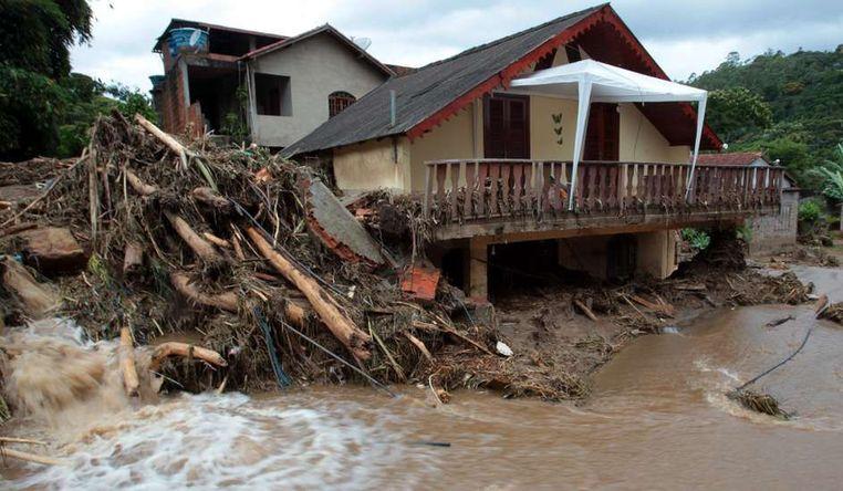 Inundaciones al sur de brasil