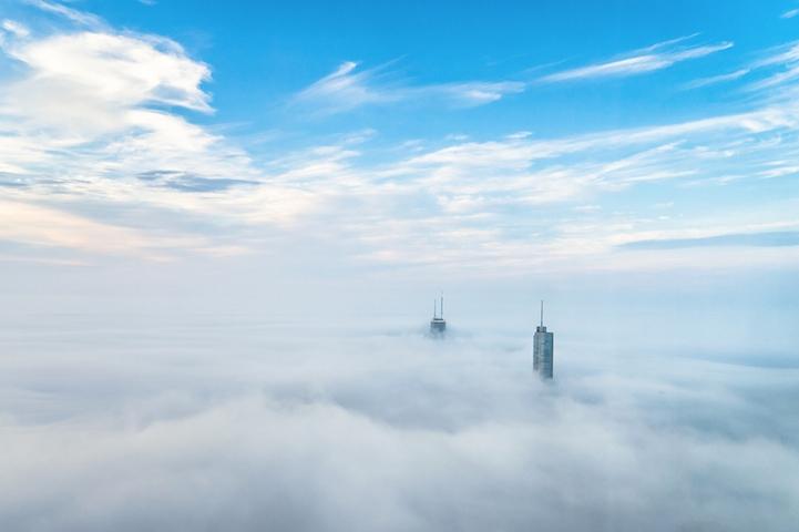 Niebla sobre Chicago por Peter Tsai 1
