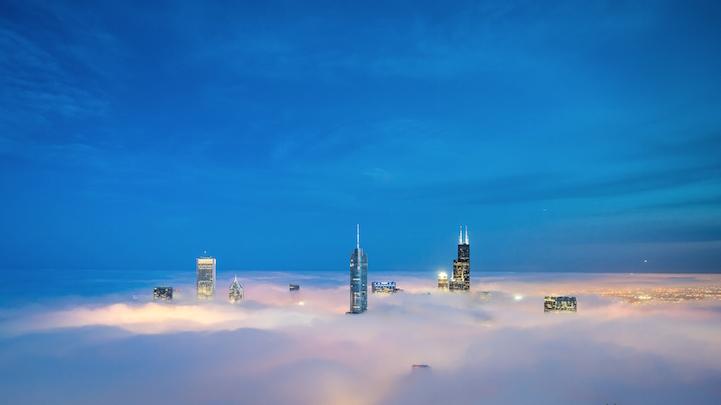 Niebla sobre Chicago por Peter Tsai