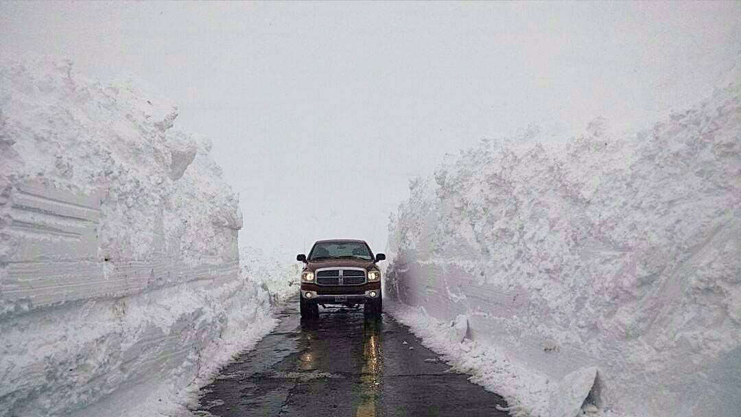 Paredón de nieve en Mendoza