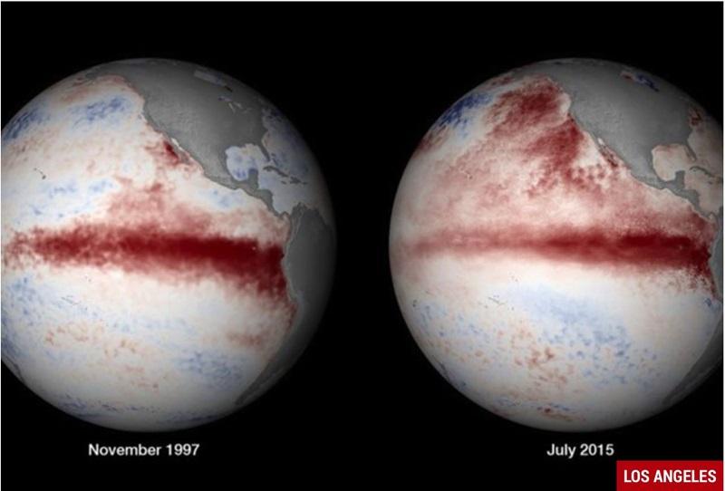 Calentamiento oceanico del Pacifico