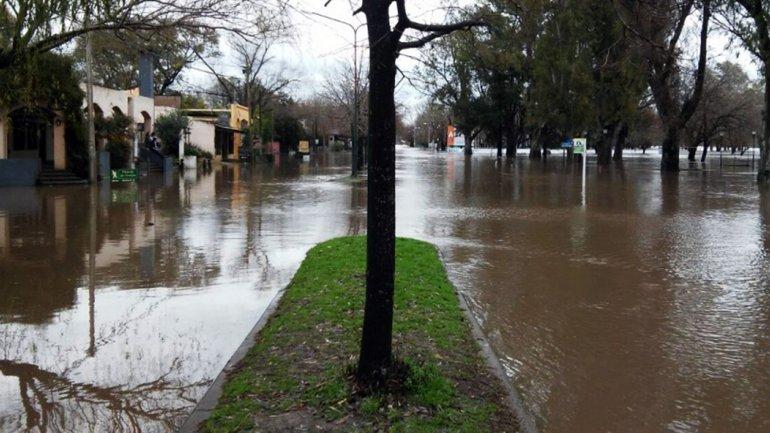 Evacuados en la Plata