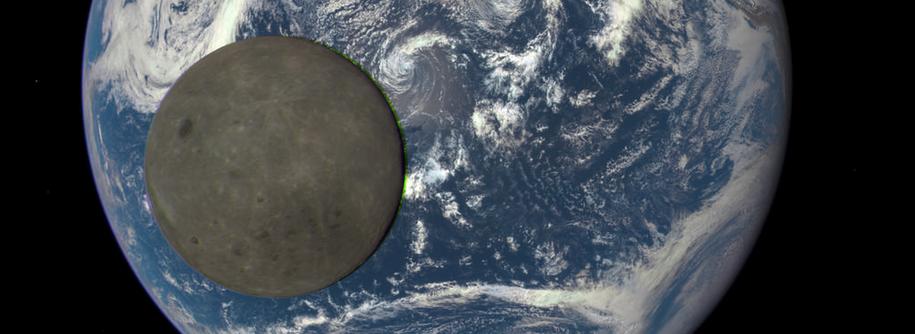 Luna frente a la Tierra