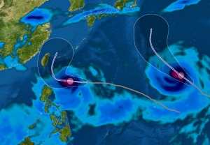 Tifones Atsani y Goni- trayecto