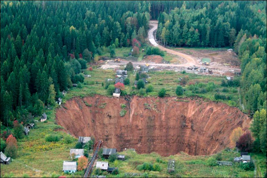 El gran crater de Rusia