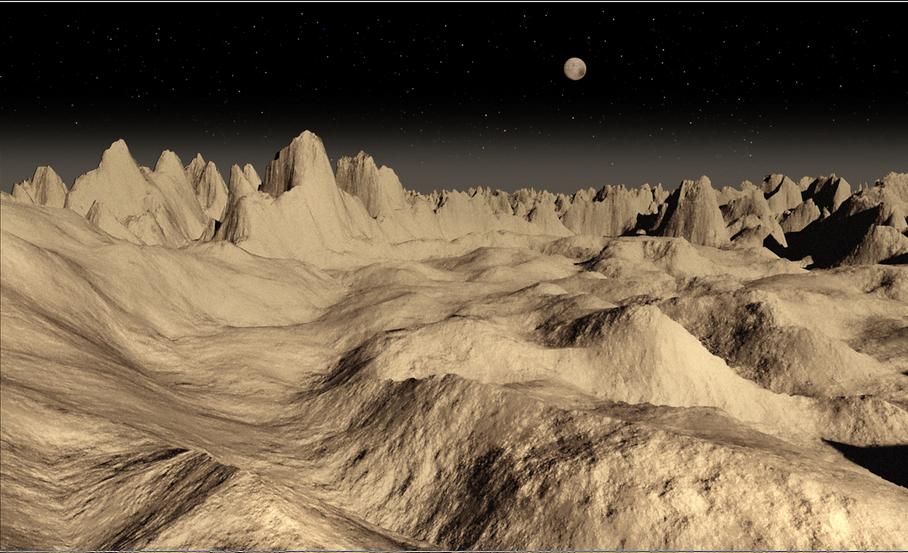 Imagenes ineditas recreadas de la superficie de Pluton 1
