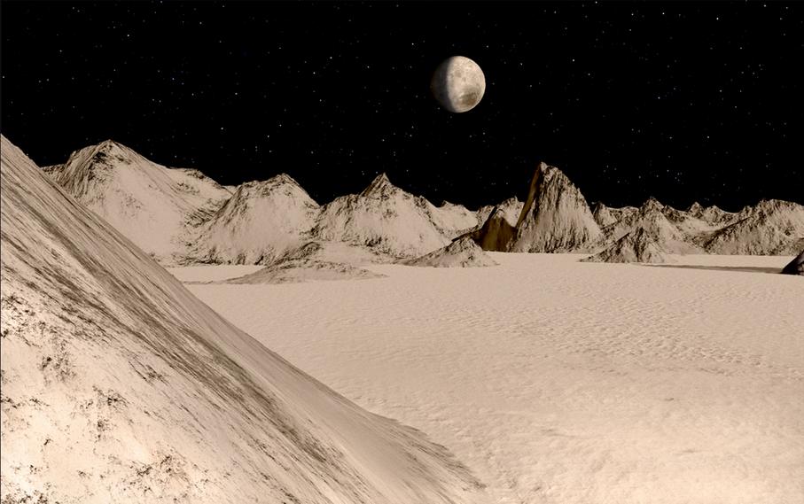 Imagenes ineditas recreadas de la superficie de Pluton