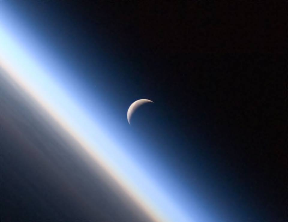 Hermoso cuarto menguante visto desde el espacio | Nuestroclima