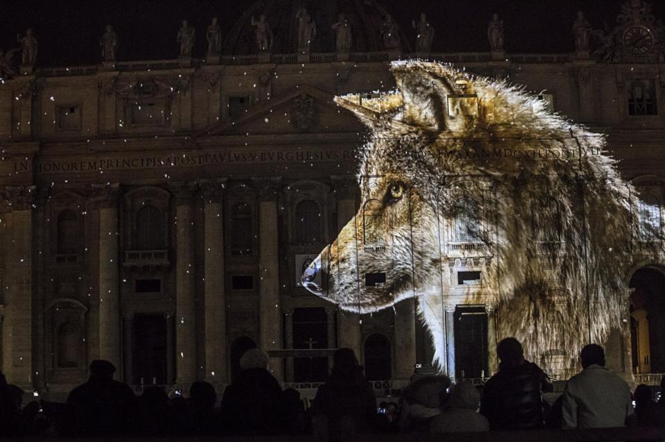 El Vaticano se ilumina por el medio ambiente 2