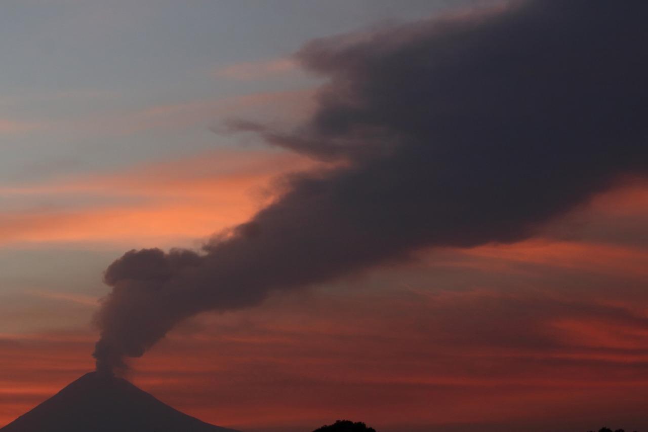 Actividad volcanica del Popocatepetl  3
