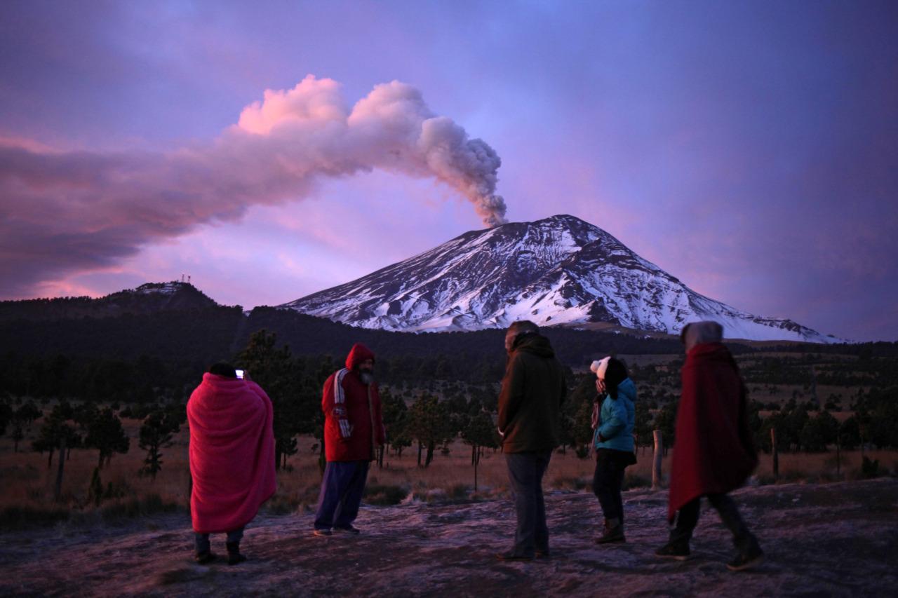 Actividad volcanica del Popocatepetl  4