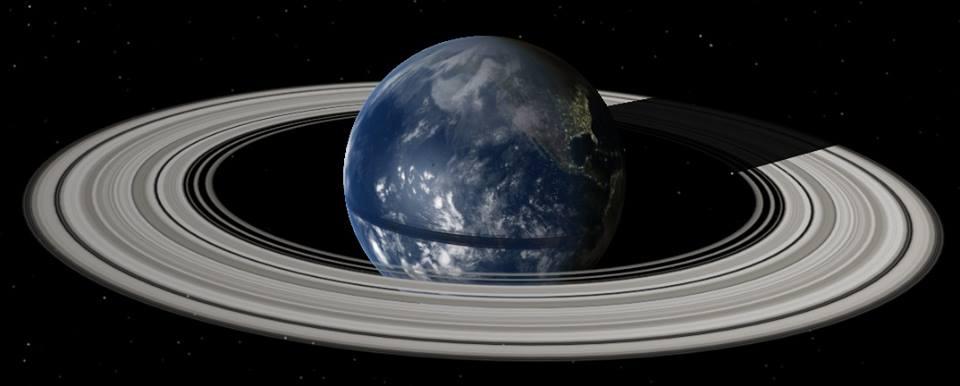 Anillos de Saturno en la tierra