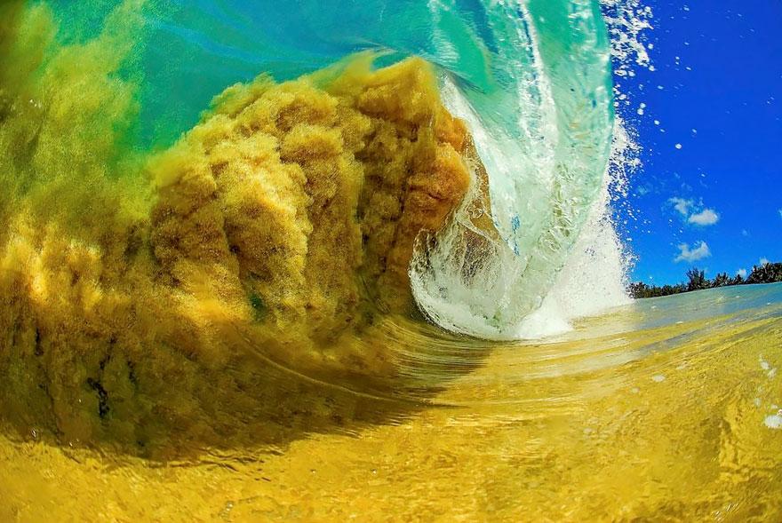 Olas de cristal las formas del mar