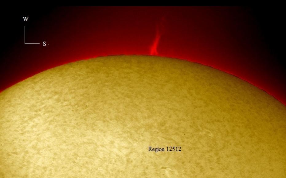 Prominencia solar 4