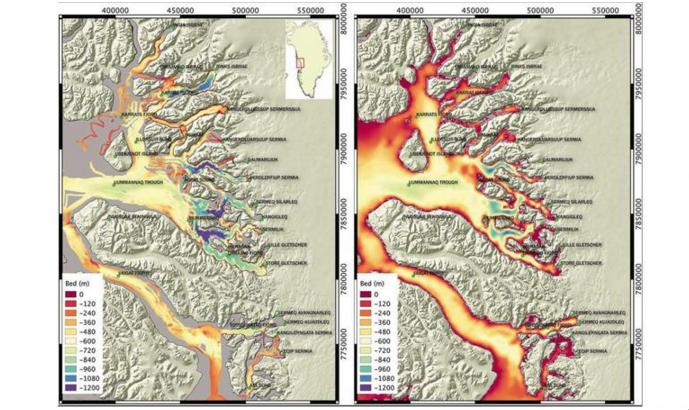 Glaciar de Goenlandia Mapa