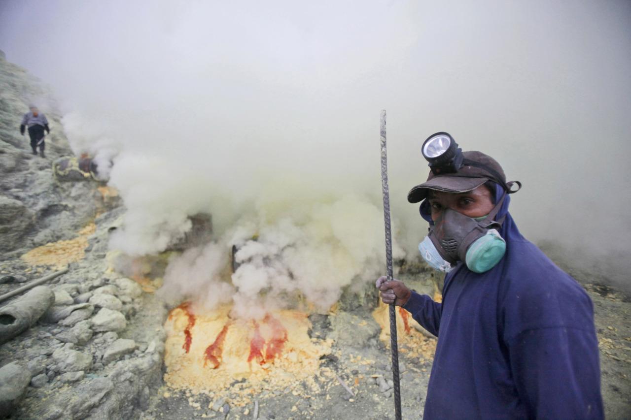 Azufre en Indonesia 2