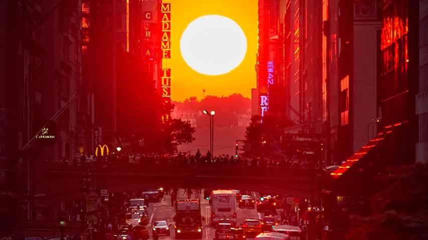 El sol en Manhattan