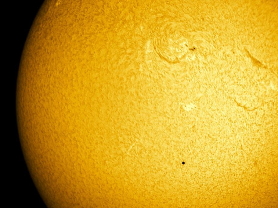 Mercurio frente al Sol 2