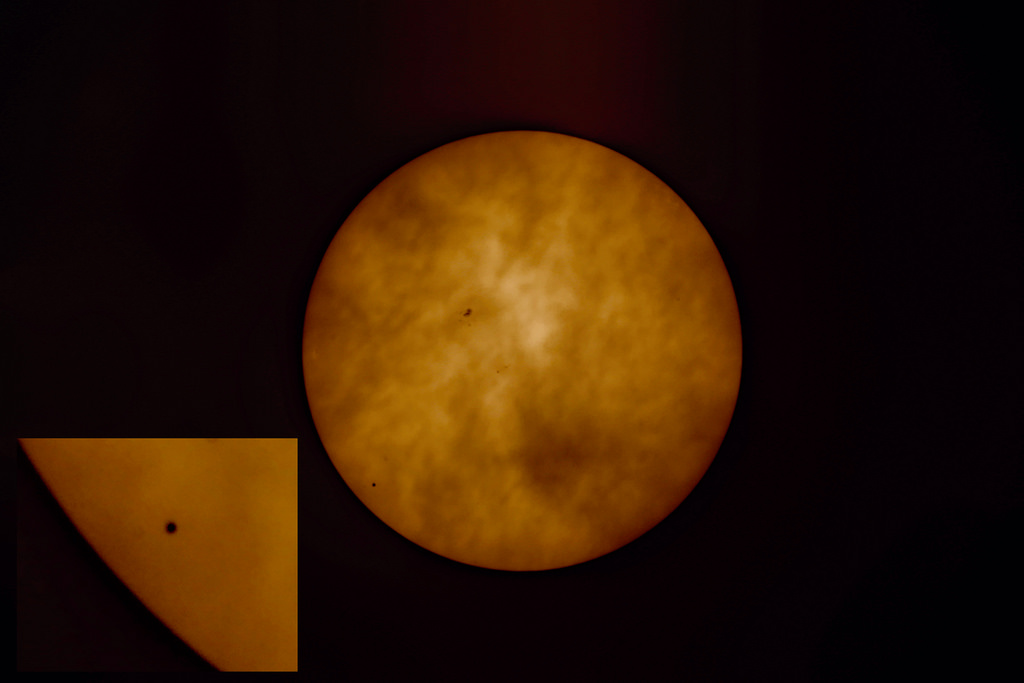 Mercurio frente al Sol 5