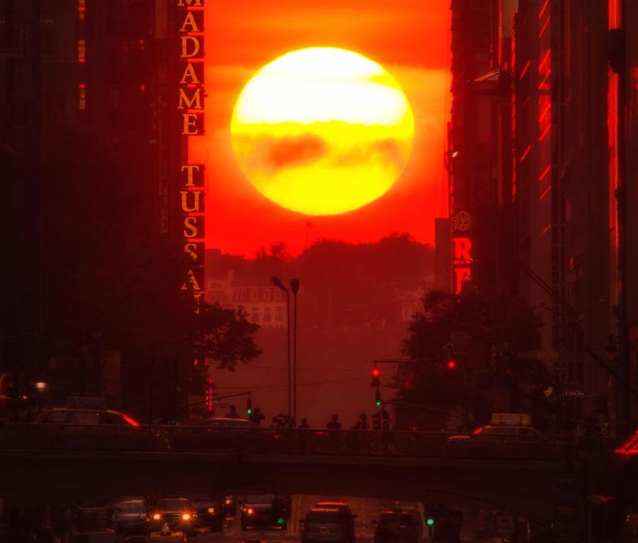 Sol en la gran avenida