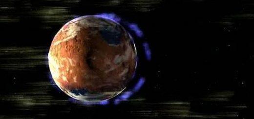 Tormenta solar en Marte