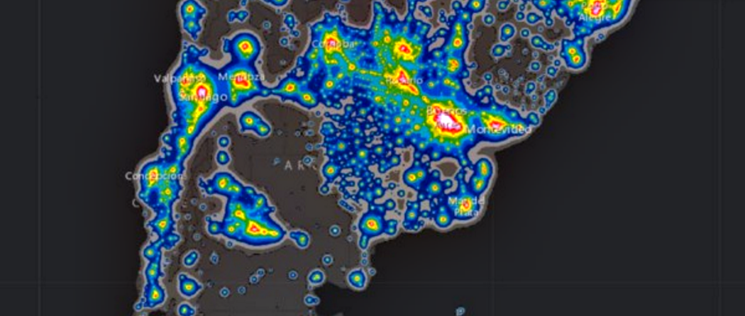 Atlas de la luz artifial en el mundo 4