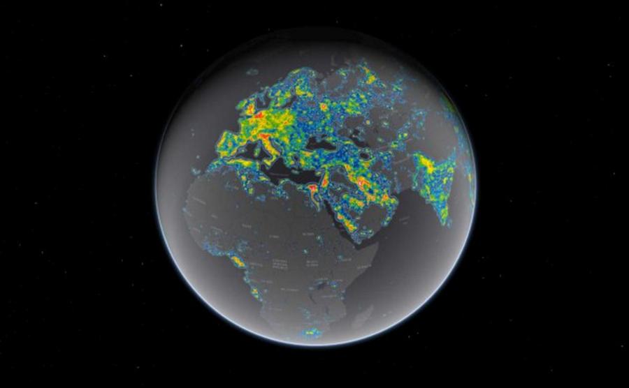 La via lactea y la contaminacion luminica
