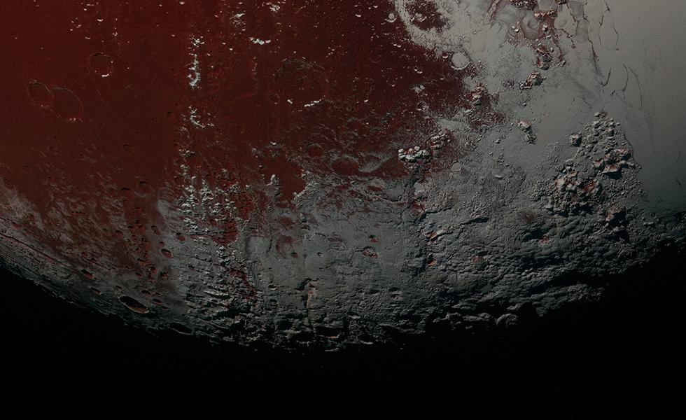 Un particolare della superficie di Plutone (NASA/JHUAPL/SwRI)