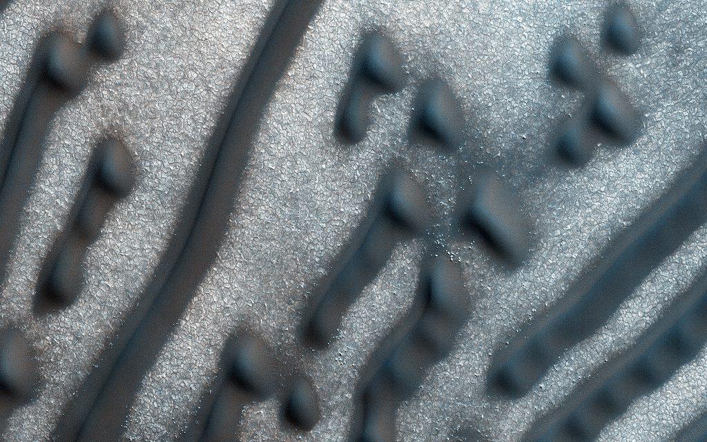 Codigo morse en Marte