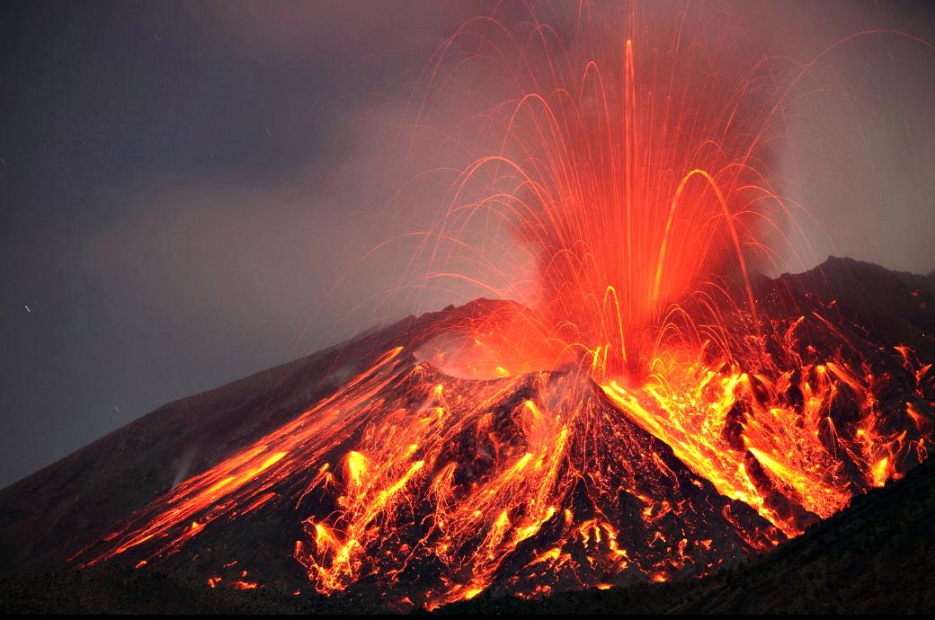 Erupcion Volcan Sakurajima 2