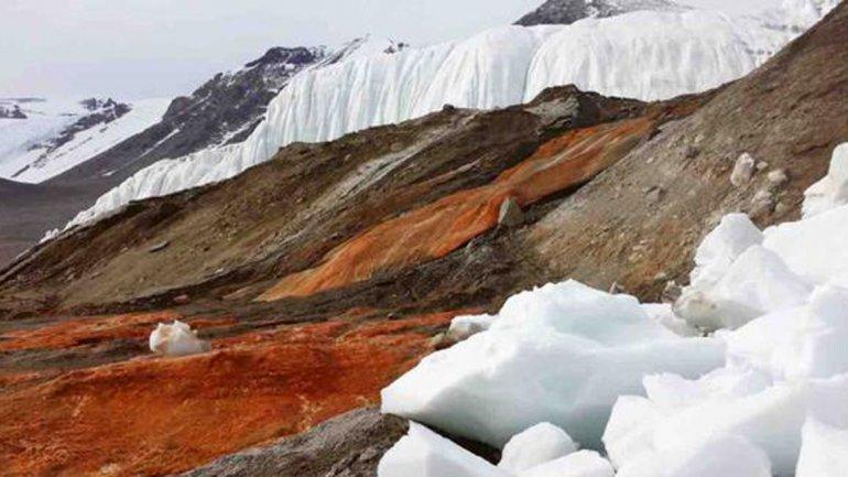 Catarata de sangre en la Antartida 1