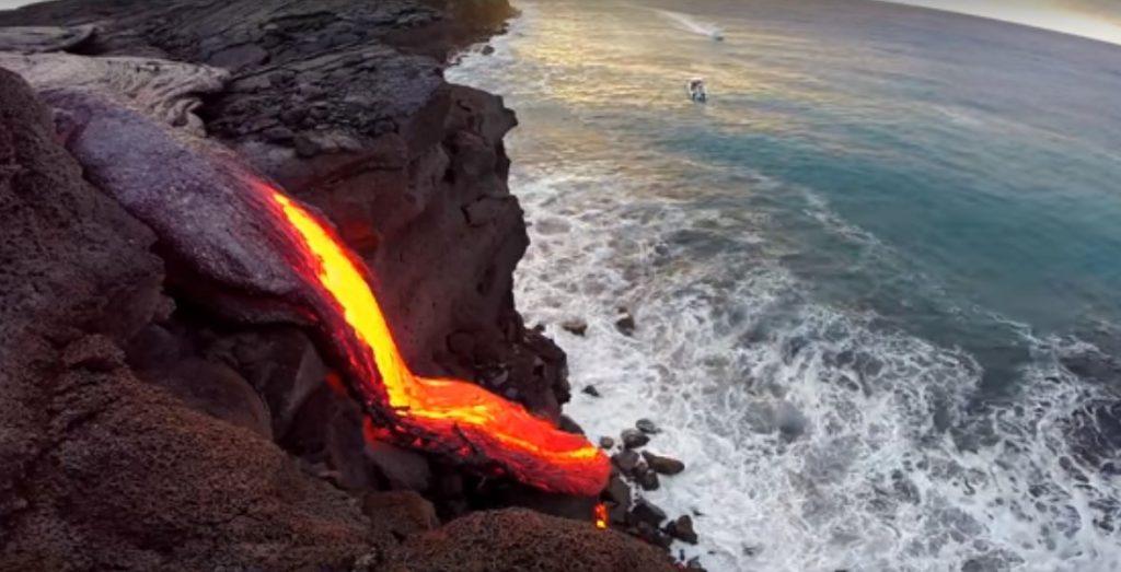 lava del volcan Kilauea en el Pacifico